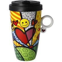 """Goebel Mug To Go emoji® by BRITTO® - """"A new day"""" 15,0 cm"""