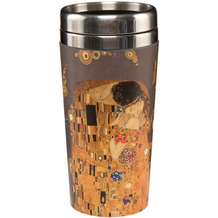 "Goebel Mug To Go Gustav Klimt - ""Der Kuss"" 17,5 cm"