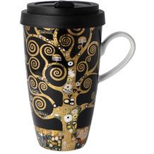 """Goebel Mug To Go Gustav Klimt - """"Der Lebensbaum"""" 15,0 cm"""