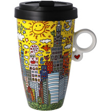 "Goebel Mug To Go James Rizzi - ""My New York City Sunset"" 15,0 cm"