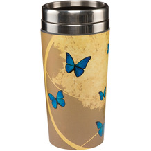 "Goebel Mug To Go Joanna Charlotte - ""Blue Butterflies"" 17,5 cm"