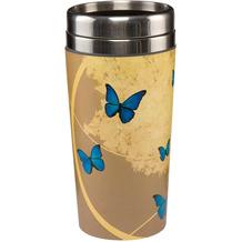 Goebel Mug To Go Joanna Charlotte - Blue Butterflies 17,5 cm