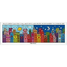 Goebel Pop Art James Rizzi My City Does Not Sleep - Magnettafel