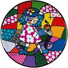 Goebel Pop Art Romero Britto Girl with Snake - Wandteller