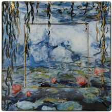 Goebel Schale Claude Monet - Seerosen mit Weide 16x16x2 cm