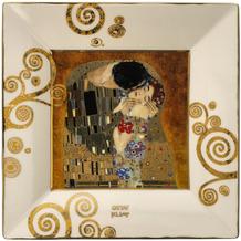 Goebel Schale Gustav Klimt - Der Kuss 12x12x1,5 cm