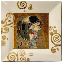 Goebel Schale Gustav Klimt - Der Kuss 16x16x2 cm