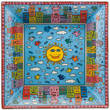Goebel Schale James Rizzi - City Day 23,5 x 23,5 cm