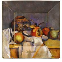 """Goebel Schale Paul Cezanne - """"Stillleben mit Birnen"""" 12x12x1,5 cm"""