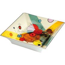 "Goebel Schale Wassily Kandinsky - ""Kreise im Kreis"" 16,0 x 16,0 cm"