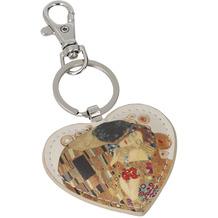 Goebel Schlüsselanhänger Gustav Klimt - Der Kuss 8,5 cm