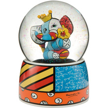 "Goebel Schneekugel Romero Britto - ""Spring Elephant"" 14,5 cm"