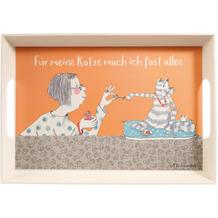 Goebel Tablett Barbara Freundlieb - Für meine Katze 50 x 35 x 5 cm