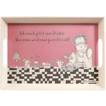 """Goebel Tablett Barbara Freundlieb - """"Zwei Diäten"""" 50 x 35 x 5 cm"""