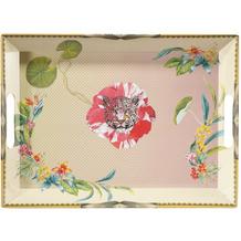 """Goebel Tablett Elephant - """"Leopard Pink"""" 49 x 36 cm"""