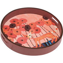 Goebel Tablett Rosina Wachtmeister - Fiori rossi ø36 cm