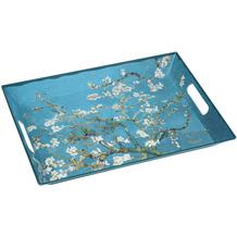 Goebel Tablett Vincent van Gogh - Mandelbaum blau 5,0 cm