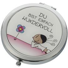 """Goebel Taschenspiegel Der kleine Yogi - """"Du bist einfach wundervoll"""" 7,5 cm"""