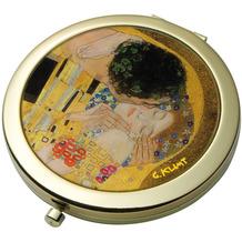 """Goebel Taschenspiegel Gustav Klimt - """"Der Kuss"""" D  7,5 cm"""