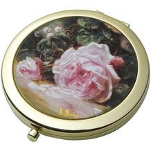 """Goebel Taschenspiegel Jean-Baptiste Robie - """"Stillleben mit Rosen"""" 7,5 cm"""