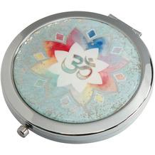 Goebel Taschenspiegel Lotus - Om grün 7,5 cm