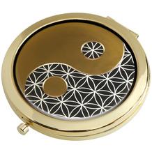 "Goebel Taschenspiegel Lotus - ""Yin Yang schwarz"" 7,5 cm"