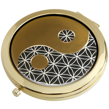 Goebel Taschenspiegel Lotus - Yin Yang schwarz 7,5 cm