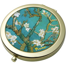 "Goebel Taschenspiegel Vincent van Gogh - ""Mandelbaum blau"" D  7,5 cm"