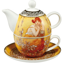 "Goebel Tea for One Alphonse Mucha - ""Topas"" 15,5 cm"