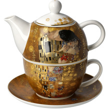 "Goebel Tea for One Gustav Klimt - ""Der Kuss"" 15,5 cm"
