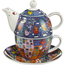 "Goebel Tea for One James Rizzi - ""City Birds"" 15,5 cm"