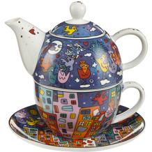 """Goebel Tea for One James Rizzi - """"City Birds"""" 15,5 cm"""