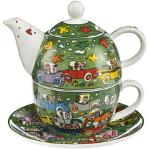 Goebel Tea for One James Rizzi - Crosstown Traffic 15,5 cm