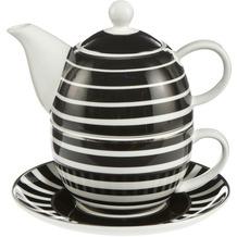 "Goebel Tea for One Maja von Hohenzollern - Design ""Stripes"" 15,5 cm"