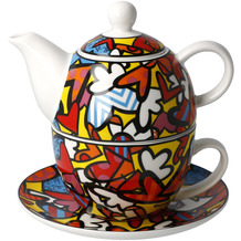 "Goebel Tea for One Romero Britto - ""All We Need is Love"" 15,5 cm"