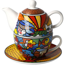 "Goebel Tea for One Romero Britto - ""Garden"" 15,5 cm"