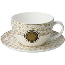 Goebel Tee-/ Cappuccinotasse Blume des Lebens Weiß 6,5 cm