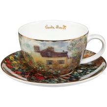 """Goebel Tee-/ Cappuccinotasse Claude Monet - """"Das Künstlerhaus"""" 6,5 cm"""
