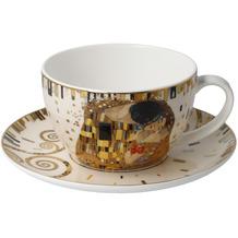 Goebel Tee-/ Cappuccinotasse Gustav Klimt - Der Kuss 7,0 cm