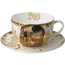 Goebel Tee-/ Cappuccinotasse Gustav Klimt - Der Kuss 8,5 cm