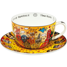 "Goebel Tee-/ Cappuccinotasse James Rizzi - ""City of Romance"" 8,5 cm"