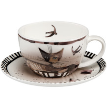 Goebel Tee-/ Cappuccinotasse Rosina Wachtmeister - Elsa 7,0 cm