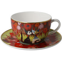 Goebel Tee-/ Cappuccinotasse Rosina Wachtmeister - Innamorati tra i papaveri 8,5 cm