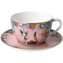 "Goebel Tee-/ Cappuccinotasse Rosina Wachtmeister - ""Melograni in festa"" 8,5 cm"