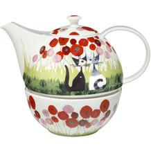 Goebel Teekanne mit Stövchen Innamorati tra i papaveri 20,0 cm