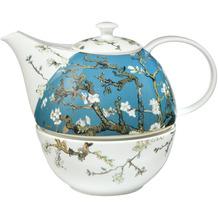 Goebel Teekanne mit Stövchen Vincent van Gogh - Mandelbaum blau 20,0 cm