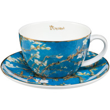 Goebel Teetasse Vincent van Gogh - Mandelbaum blau 7,0 cm