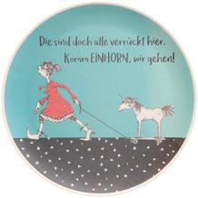 """Goebel Teller Barbara Freundlieb - """"Die sind doch alle verrückt"""" 25,5 x 1,5 cm"""