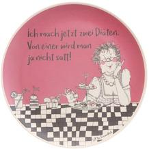 """Goebel Teller Barbara Freundlieb - """"Zwei Diäten"""" 25,5 x 1,5 cm"""