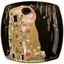 """Goebel Teller Gustav Klimt - """"Der Kuss"""" 21 x 21 cm"""